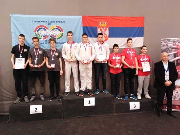 Tri medalje, dve titule za Mladost na Prvenstvu Srbije